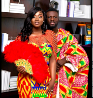 PICS: This Stunning Newly Wed Priscilla, Is Giving Us Wedding Dress Goals With This Extraordinary Kente Dress