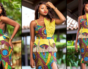 #HAUTE: Ghanaian Designer Bombaare Just Dropped All Jaws With This Amazing African Print Wedding Guest Dress