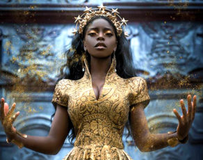 #HOTSHOTS: See The Jaw Dropping Editorial By Fantasy Photography Lillian Lui Titled 'Golden Goddess'