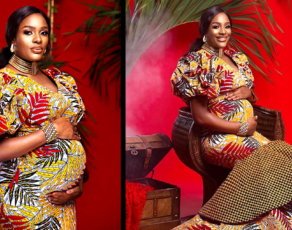 #HOTSHOTS: Style Influencer Chooses African Print For Her Pregnancy Images & Goes Viral Without Going Naked