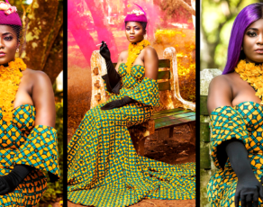 #HOTSHOT: Priscilla Stuns In Fabulous Jamartash Dress In Fashion Editorial By TwinzDntBeg