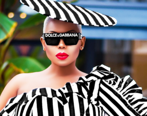 #STYLEGIRL: Liberia's Sarle Amah Schools Us On How To Kill Your Monochrome Looks With A Flat Hat