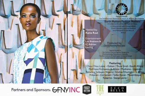 Flyer for past event Fashion Matters, Earth Matters