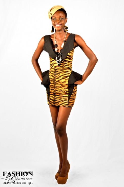 Tiger Print Dress by Zinzi