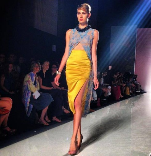 Christie Brown Dress From Dure Collection at Altaroma 2013